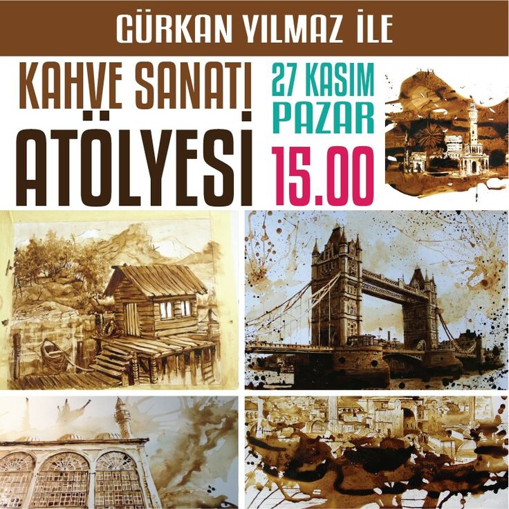 """Gürkan Yılmaz ile """"Kahve Sanatı Atölyesi"""" 27 Kasım Pazar günü saat 15.00'de İzmir Park'ta."""