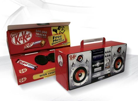 Musically themed promotional Point of Sales displays for KitKat.     *** Design, print and build by The Printed Image in Ireland. ***