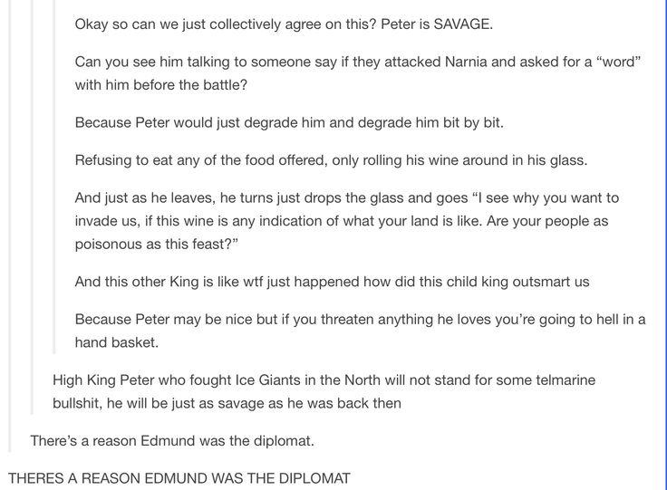 High King Peter....the Savage