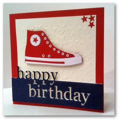 Carte d'anniversaire ado - Die Big Shot Converse