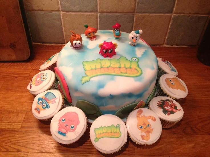Moshe monsters cake