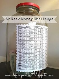 Money saving challenge.  Save over $1,300 for you and/or your family in a year. Going to try this myself. Will be easy enough to catch up. Printables included.