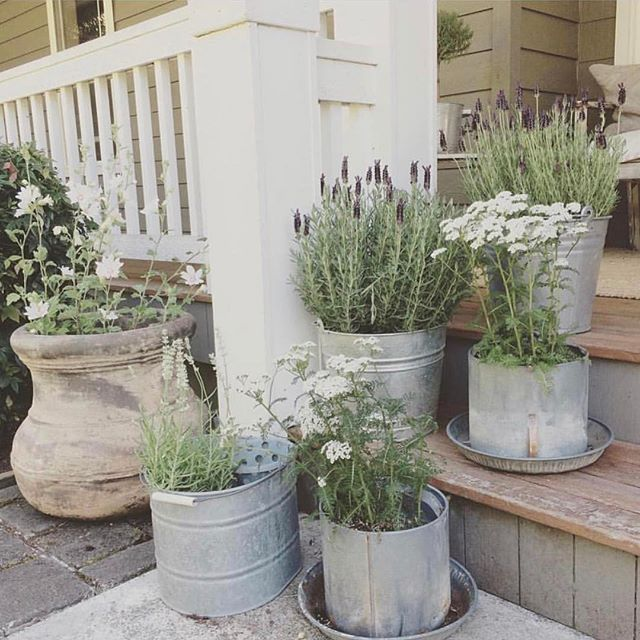 Great idea if you don't have the ability to plant flowers around your porch!