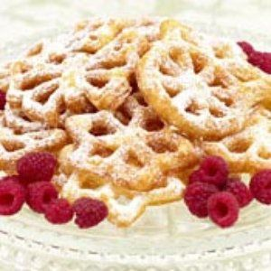 Rosettes Recipe - This recipe is made using a rosette iron.
