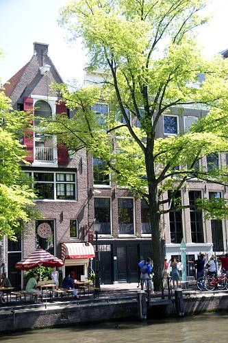 Anne Frank's house in Amsterdam, Netherlands