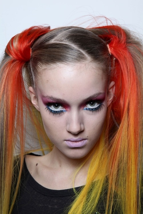 Jeremy Scott FW 11 beauty