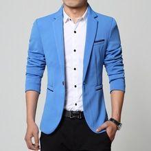 2015 nieuwe lente mode merk party blazer mannen casual jasje mannen slim fit suits trend katoen mannen pak mannen 4xl(China (Mainland))