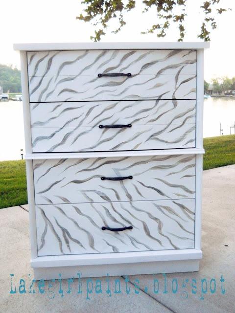 Lake Girl Paints: Zebra Dresser