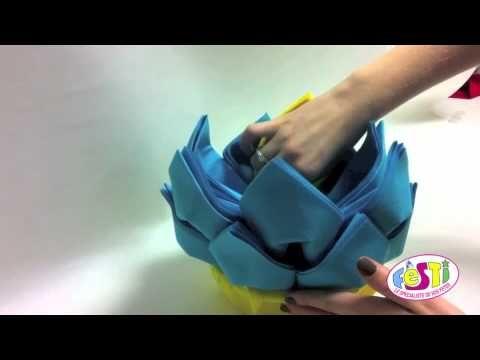 Création d'un ananas en serviettes - Festi - YouTube