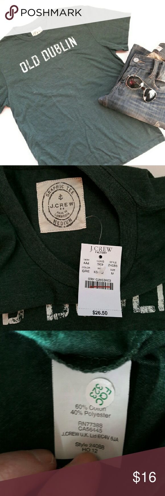 Design your own t shirt ebay -  Mens J Crew Graphic T Shirt Brand New With Tags Never Worn