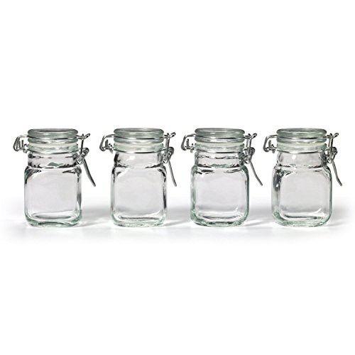 3oz GLASS JAR W/SNAP LID 12-sets of 4(Total-48 jars)