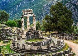 Grecja, Delfy, Świątynia, Ateny, Ruiny