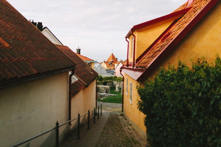 Fotograf besöker Visby, Gotland