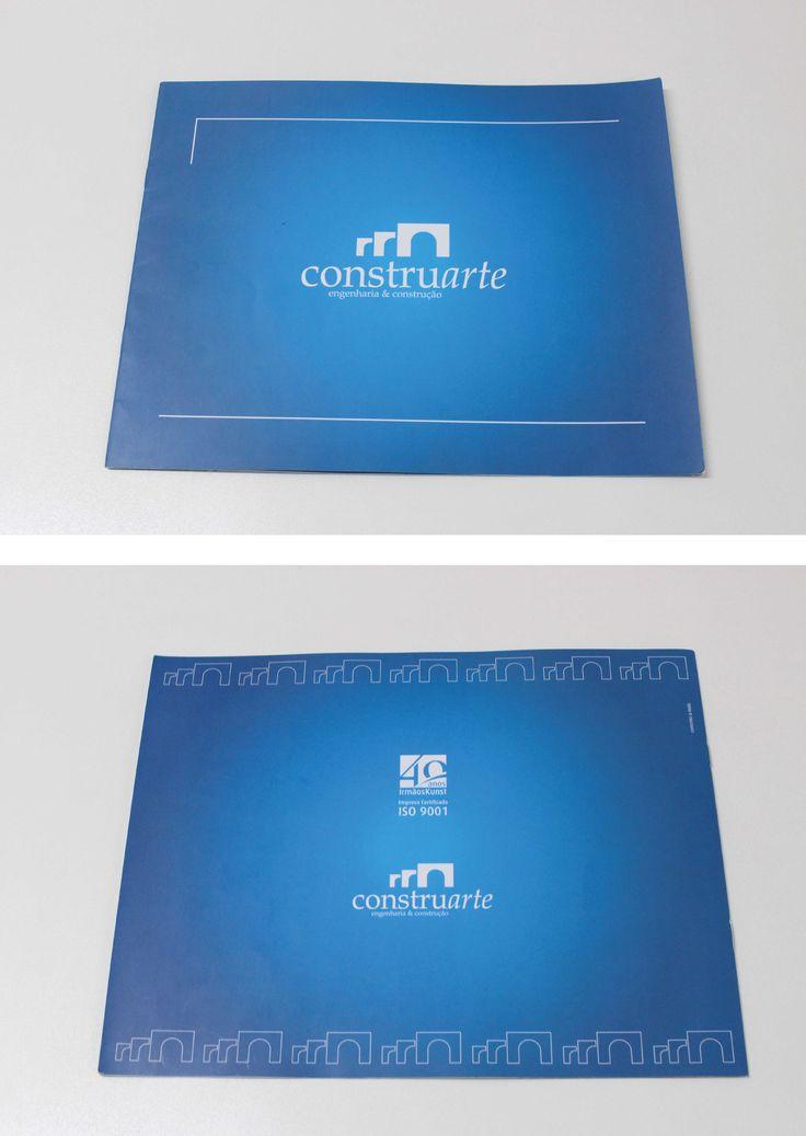 impresso desenvolvido pela Agência Conceito para a empresa Construarte.