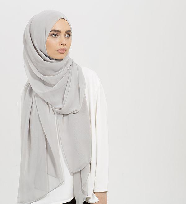 Feather Grey Maxi Georgette Hijab - £12.99 : Inayah, Islamic Clothing & Fashion, Abayas, Jilbabs, Hijabs, Jalabiyas & Hijab Pins