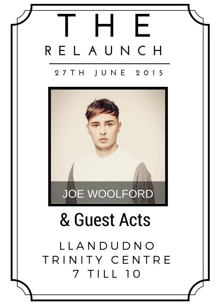 The Relaunch - West Shore Events - EventsnWales, new company with our newest event called the relaunch. Including Joe Woolford and Guest acts.