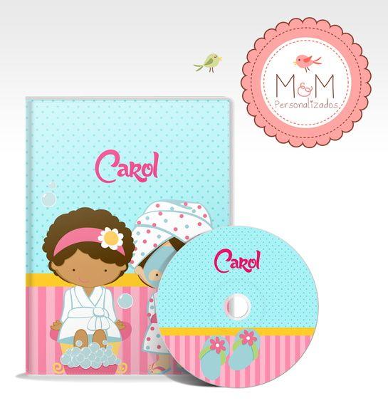 DVD + Capa Personalizados - Spa Kids