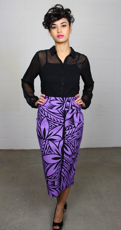 MENA Elise Printed Pencil Skirt