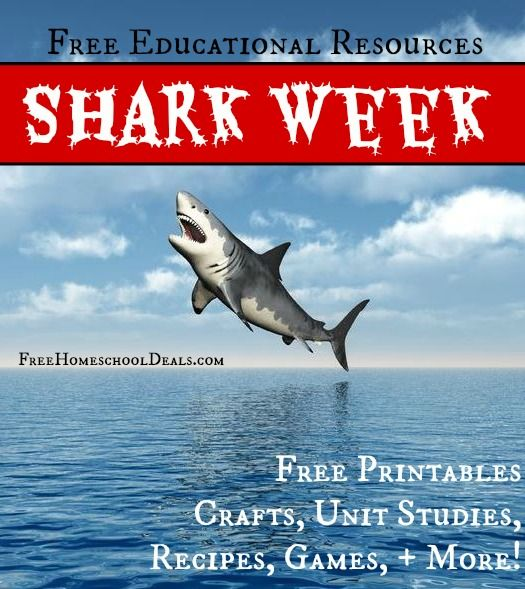FREE Educational Resources for SHARK WEEK - Free Homeschool Deals