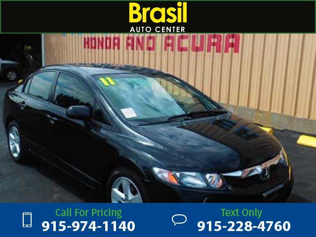 2011 Honda Civic LX-S Sedan 5-Speed AT Black $8,500 107449 miles 915-974-1140 Transmission: Automatic  #Honda #Civic #used #cars #BrasilAutoCenter #ElPaso #TX #tapcars
