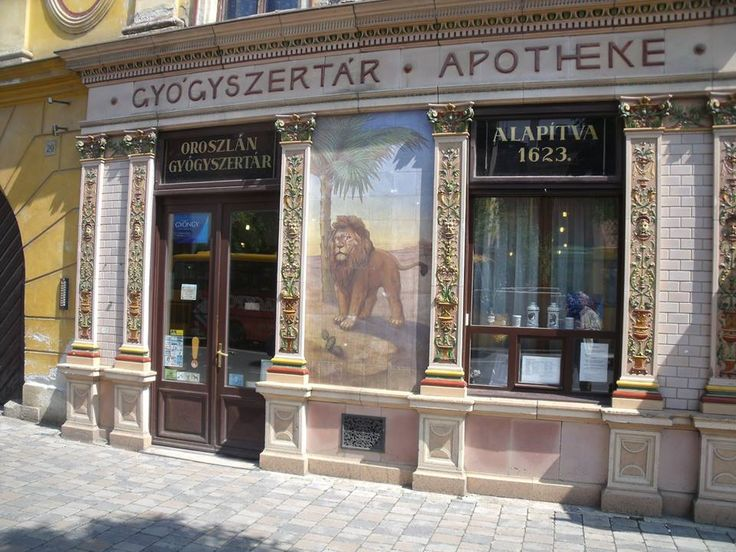 Beautiful front of an aphoteke in Sopron - Hungary. (Photo: Balázs Sándor)