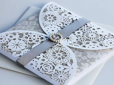 laser cut wedding invitation design