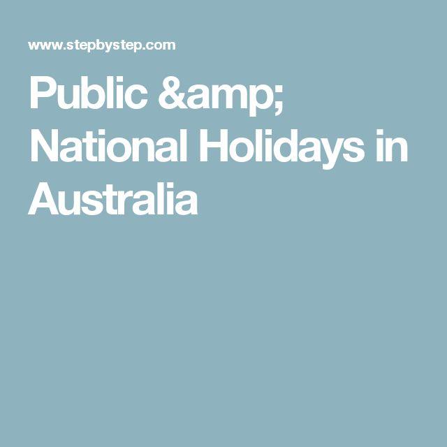 Public & National Holidays in Australia
