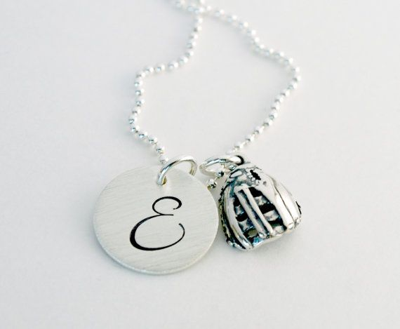Custom Softball Glove Charm Necklace  Softball by Studio463, $60.00