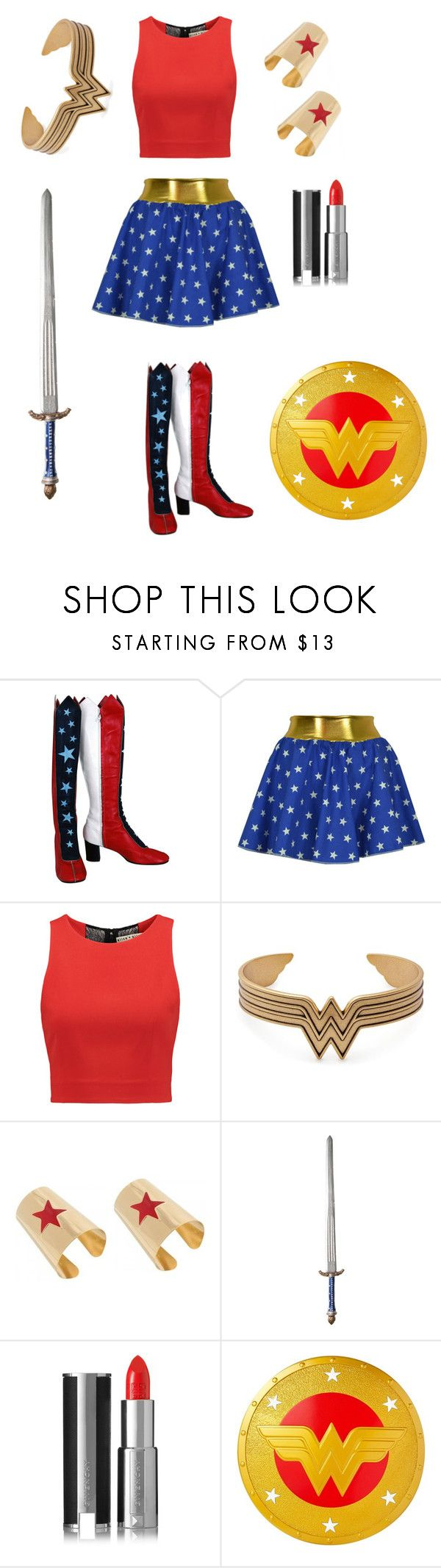 """""""♥ Wonder Woman ♥"""" by pastelkittyxx ❤ liked on Polyvore featuring beauty, Alice + Olivia, Alex and Ani, Givenchy and Mattel"""