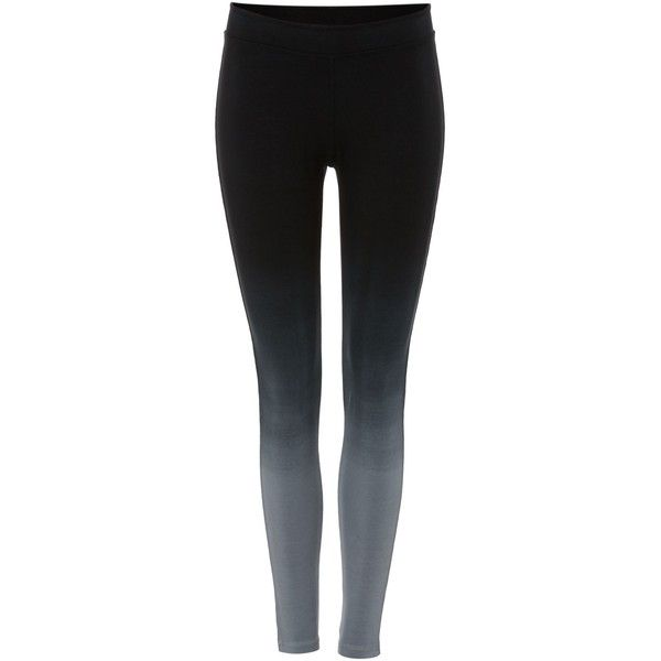 Label Lab Ombre legging ($51) ❤ liked on Polyvore featuring pants, leggings, charcoal, women, stretchy leggings, ankle length pants, stretch leggings, black leggings and black pants