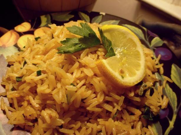Mediterranean Rice from Food.com: A nice simple rice side, simply make as directed or else throw everything in the rice cooker adding the parsley at the keep warm stage.