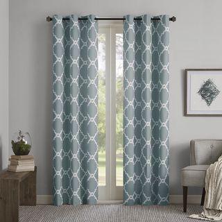 Shop for Madison Park Essentials Almaden Printed Fret Grommet Top Curtain Panel…
