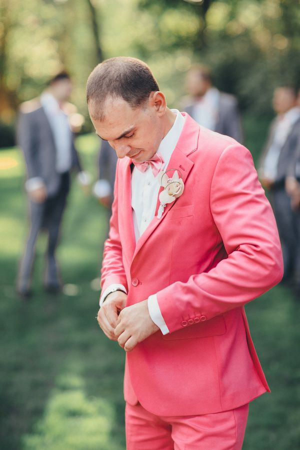 Pink Groom! Stylish Modern Country Club Wedding by Boris Zaretsky Photography - KnotsVilla