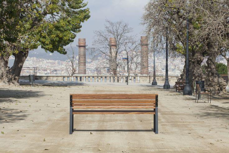 Mobiliario urbano, #banco Calma en Montjuïc. #bench #streetfurniture #outdoorfurniture #mobiliariourbano