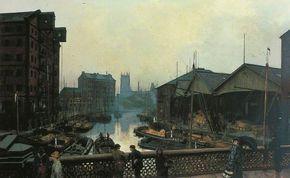 John Atkinson Grimshaw - Leeds Bridge