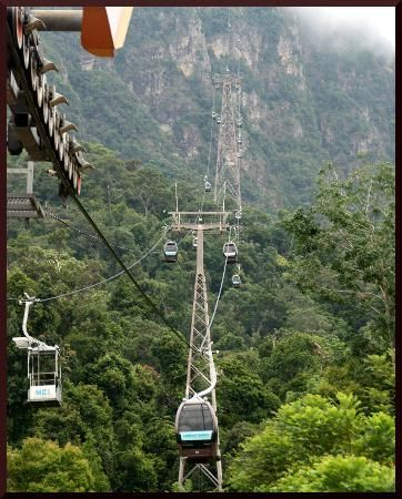 I want to ride these cable cars in Langkawi, Malaysia!