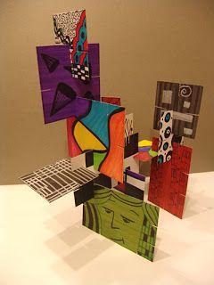 projet art : réaliser plusieurs cartons à la manière de plusieurs artistes. à lier avec HDA. pour Noël