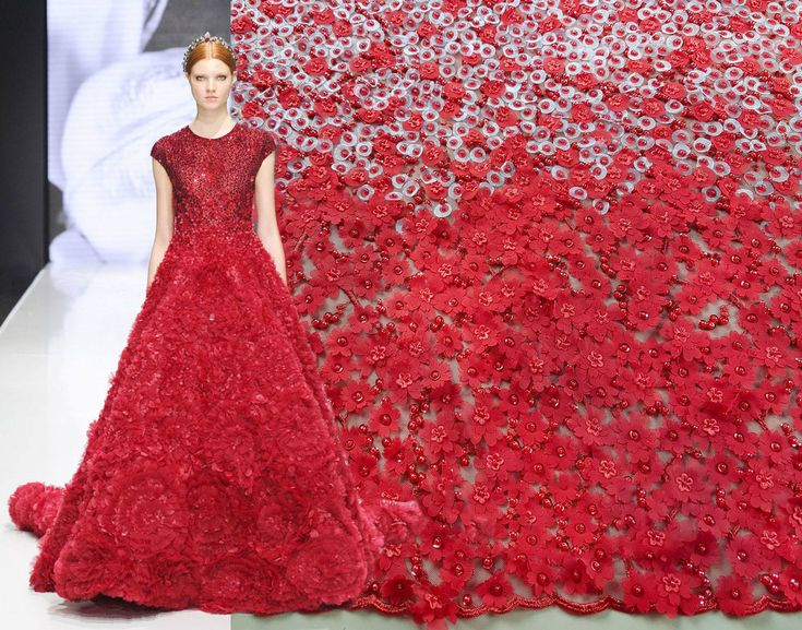 Delicate 3D flowers and hundreds of hand-applied pearls makes this haute couture handmade lace unique and irresistible. Available now here: https://www.malagoli.ro/en/product/md-232  #MalagoliFabrics #Fabrics #Lace #HauteCouture #Fashion #Dress #Gown #Embroidery