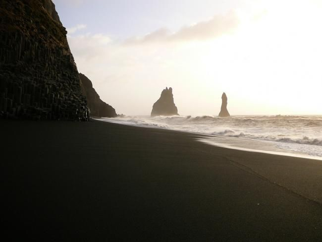 Playas de arena negra. Islandia, Vik