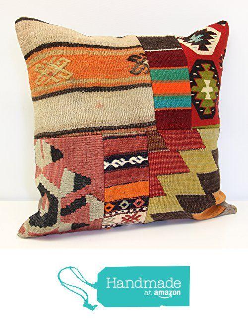 Modern Patchwork kelim pillow cover 18x18 inch (45x45 cm) Handmade Kilim pillow cover Turkish pillow Accent Hand woven Cushion Cover from Kilimwarehouse https://www.amazon.com/dp/B07166X72S/ref=hnd_sw_r_pi_dp_cdM-ybQ13FYZ1 #handmadeatamazon