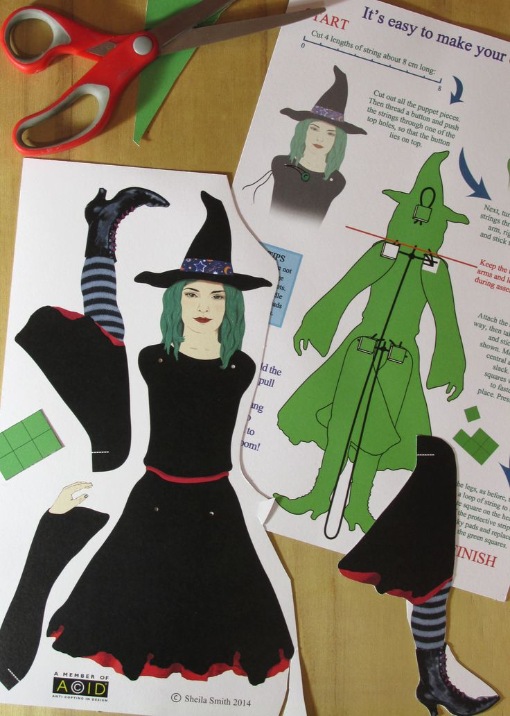 It's very easy to assemble this puppet. Cutting out takes around 30 minutes, and assembly takes around 10 minutes. No knotting and no need to use a needle! www.sheilasmithpu... £4.50