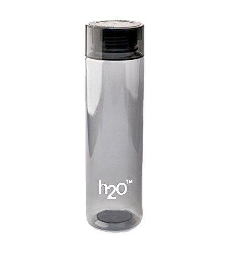 H2O Plastic Water Bottle 1 Litre Black