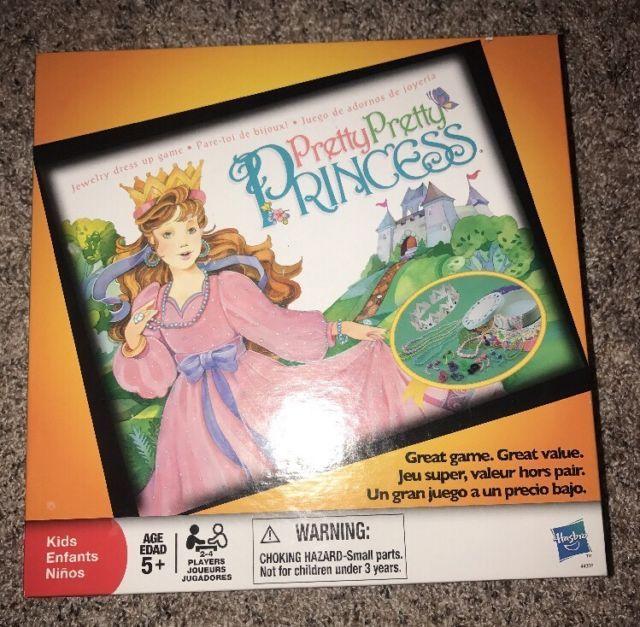 Pretty Pretty Princess Dress-Up Jewelry Board Game Hasbro MB New | eBay