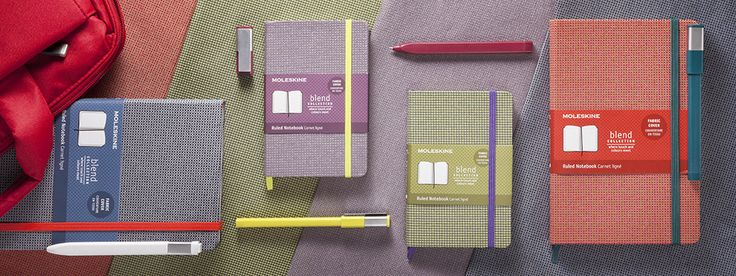 The Moleskine Blend Collection with Jacquard Fabric Covers
