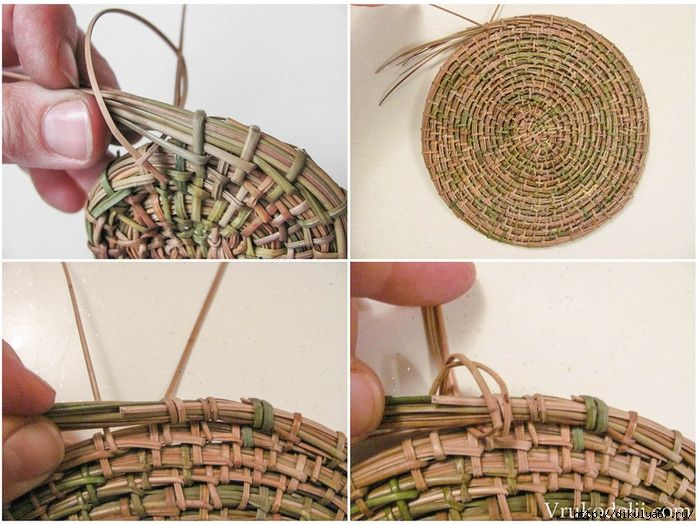pine needles weaving
