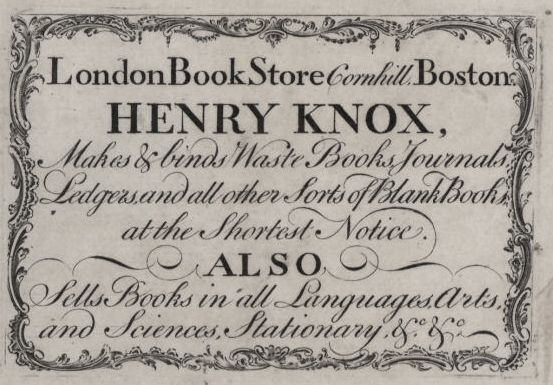 Henry Knox, Drug Dealer?