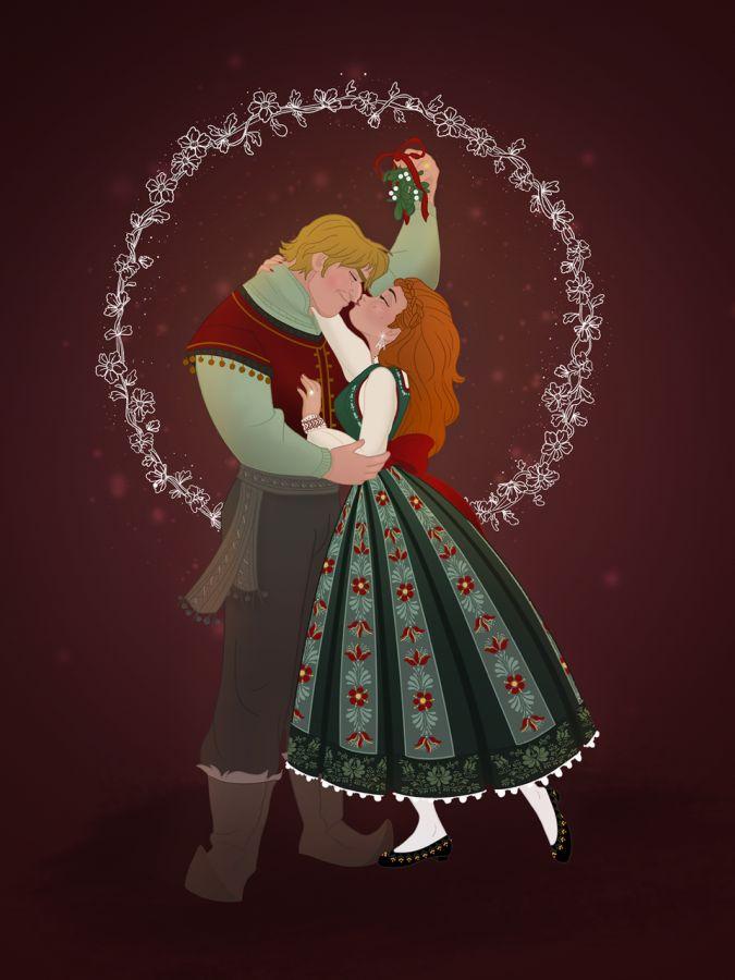Дисней Принцессы и Принцы на Рождество