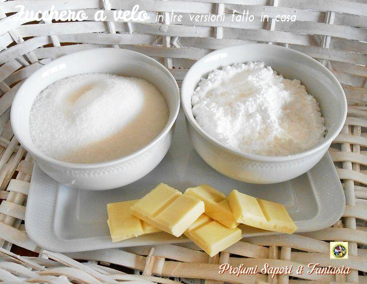 Zucchero+a+velo+in+tre+versioni+fatto+in+casa