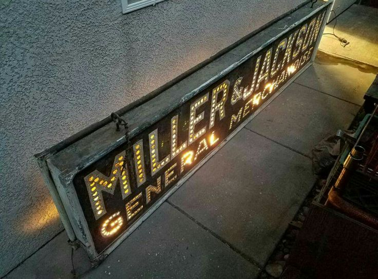 Early Original Punched Tin Miller & Jackson General Store Sign