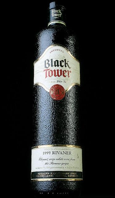 Black Tower Wine Bottle by Gabe!, via Flickr